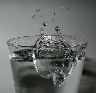 Impact of Water in Glass
