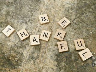 Be Thankful - Scrabble Tiles
